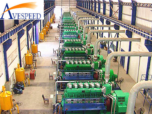 AVESPED HFO/diesel and gas mixed dual fuel generator set